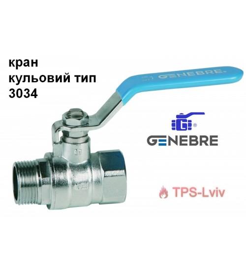 Кран кульовий GENEBRE Тип 3034